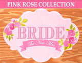PINK BRIDAL SHOWER - WEDDING FAVOR BAG LABELS- Bridal