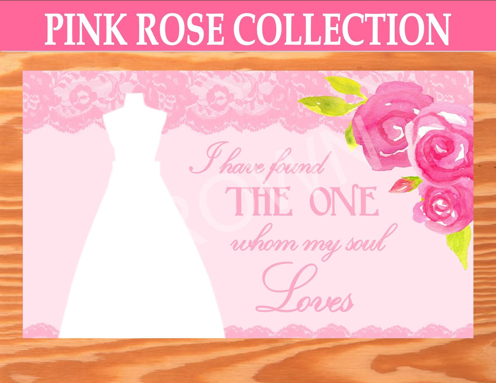PINK BRIDAL SHOWER - BACKDROP - Rose -Wedding