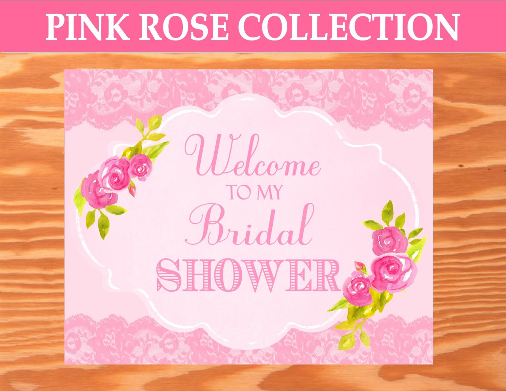 PINK BRIDAL SHOWER - BRIDAL SHOWER WELCOME SIGN