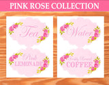 PINK BRIDAL SHOWER - SHOWER CANDY LABELS- Bridal Shower- Pink Wedding- Pink Rose