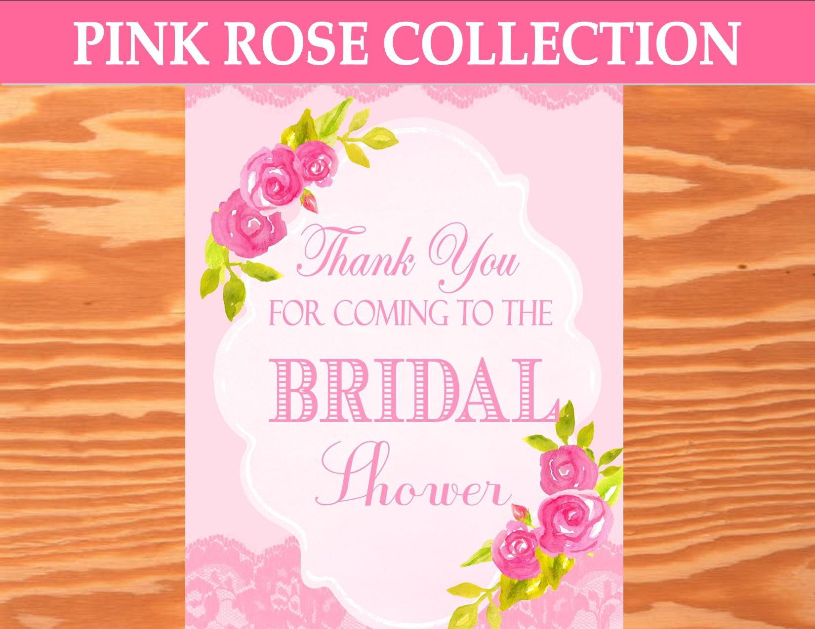 PINK BRIDAL SHOWER - WEDDING THANK YOU SIGN