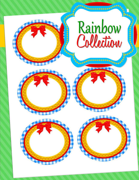 RAINBOW PARTY- Dorothy CANDY LABEL- Girl Birthday Party -