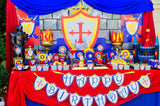 KNIGHT Party - Castle Party - Medieval Party - Knight - King Party - Royal Birthday Party - Dragon Party - FLAG BANNER