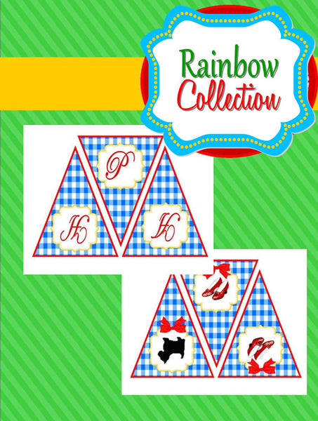 RAINBOW PARTY - Red Slippers - Rainbow BANNER