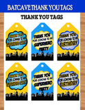 SUPERHERO Party- COMIC Hero Party- Superhero Birthday- Superhero THANK YOU TAGS
