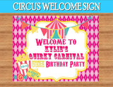 CIRCUS Birthday Party- Circus STRAW FLAGS- Girly Circus- CIRCUS PARTY