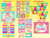 CIRCUS PARTY- CIRCUS Birthday Party- Bright Circus Party- Circus FAVOR BAG TOPPERS- CARNIVAL