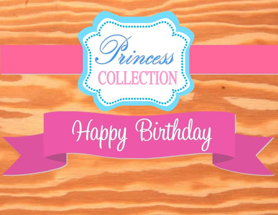 PINK PRINCESS Party - BANNER- Girls Birthday- Printables