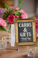 Bridal Shower - Cards & Gifts SIGN - Chalk Board Wedding Sign - Shower