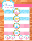 Princess Party - Blue Princess CUP WRAPPERS