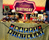 Hollywood BIRTHDAY - Movie Party - MOVIE BANNER- Red Carpet Party- Theater Party