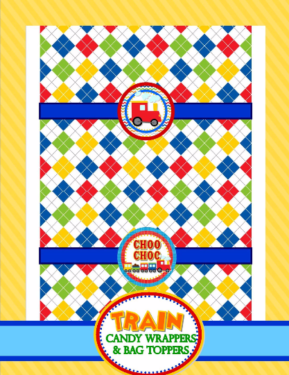 TRAIN Birthday Party - Train CANDY BAR - Train Party- Train