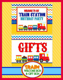 TRAIN Birthday Party - Train INVITATION - Train Party - Train Party Printables - INSTANT DOWNLOAD