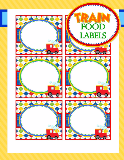 photograph about Printable Food Labels referred to as Teach Birthday Get together - Coach Food items LABELS - Practice Social gathering Decorations - Prepare Occasion - Boy Prepare Birthday - Coach Bash Printables - Quick Obtain