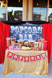 MOVIE THEATER PARTY- Hollywood PARTY - GLAM - Movie Theater Drink Labels- Cinema Party- Red Carpet