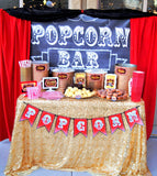Hollywood PARTY - Movie - COFFEE BAR BACKDROP- Coffee Bar- Movie Theater Party- Cinema Party- Red Carpet Party
