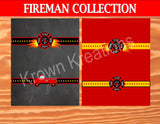 FIREMAN Party - Fire Truck Party- FIRE FIGHTER BAG TOPPERS