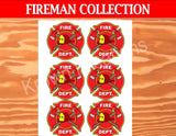 FIRE FIGHTER- FIREMAN Logo- Fire Truck Party- Fireman Party