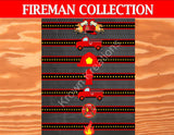 FIRE FIGHTER Party- FIREMAN Party- Fire Truck- NAPKIN RING