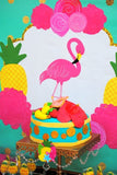 FLAMINGO Party -Flamingo Birthday - Flamingo STRAW LABELS- Pineapple - Luau Party