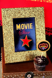 MOVIE THEATER Party- Red Carpet Party- Hollywood Party - CINEMA Party - GLAM CUPCAKE TOPPERS