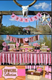 COWGIRL Party - BURSTS - Horse - Pink Cowgirl Party - Horse Birthday
