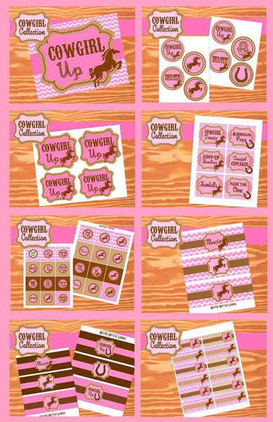 COWGIRL Party- Horse Party- Pink Cowgirl Birthday Party- COMPLETE