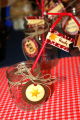 COWBOY Party- Horse Party- Cowgirl- Cowboy STRAW FLAGS