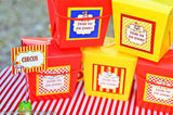 CIRCUS Birthday Party- Carnival- Circus Party- Circus THANK YOU TAGS
