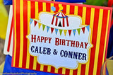 CIRCUS Party - Circus BACKDROP - Carnival BANNER- Circus Birthday