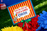 CIRCUS Party- Carnival- Circus Birthday- Circus BOTTLE WRAPPERS