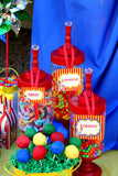 CIRCUS Birthday Party- Carnival- Circus Party- STRAW FLAGS