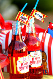 CIRCUS Birthday Party- Carnival Party- Circus Party- Circus BOTTLE LABELS-  INSTANT DOWNLOAD