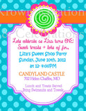 SWEET SHOPPE INVITATION- Sweet Shop Invite- Candyland