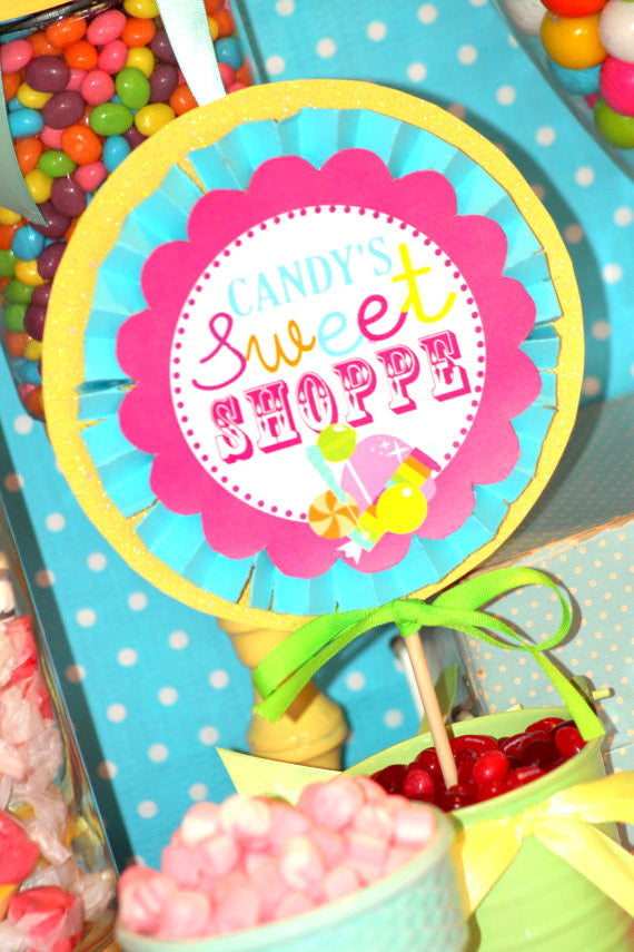 SWEET SHOPPE Party- Sweet Shop Party- Candyland Party- Lollipop- Gumdrop- Birthday Party- BURSTS - Candy Party