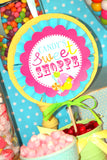 SWEET SHOPPE Party - Sweet Shop BOTTLE LABELS - Candy