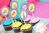 SWEET SHOPPE Party- Sweet Shop Party- CUPCAKE TOPPERS