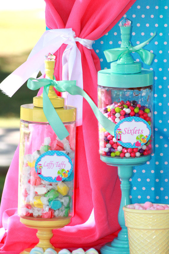 SWEET SHOPPE Party - Sweet Shop CANDY JAR LABELS- Candy