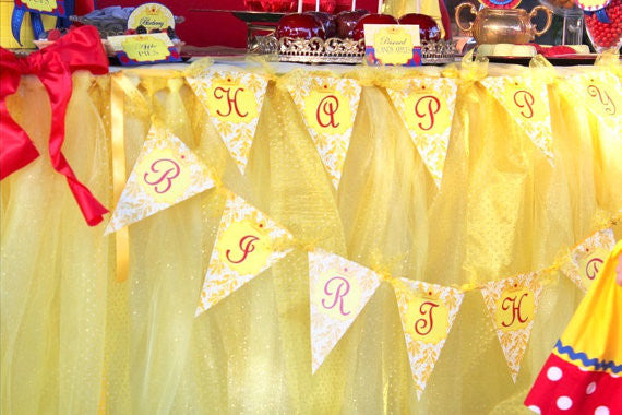 PRINCESS Party - Princess Birthday Party - BANNER