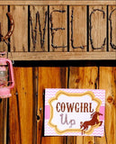 COWGIRL Party- Horse Birthday Party- Pink Cowgirl Party- Cowgirl SIGN