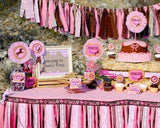 COWGIRL Party- Horse Party- Birthday- Pink Cowgirl- BANNER