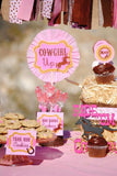 PINK COWGIRL Party- Girls Birthday Party- Printables- FOOD LABELS