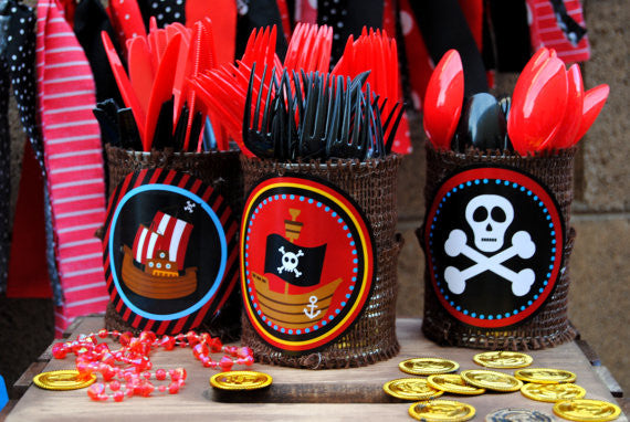 PIRATE Birthday Party - PIRATE BURSTS - Pirate Party- Pirate Party Decorations
