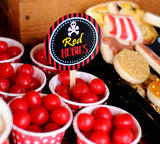 Pirate Birthday Party - Pirate CANDY LABELS - Pirate Party- Decorations