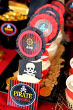 Pirate Birthday Party - Pirate CUPCAKE TOPPERS - Boy Pirate Birthday Party - Girls Pirate Party - Pirate Ship Party - Pirate Printables