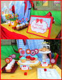 RAINBOW PARTY -COMPLETE - Red Slippers- Rainbow Birthday - Wizard Party