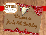 COWBOY Party- Horse Party- SIGN- Cowboy PARTY SIGN- Western Party