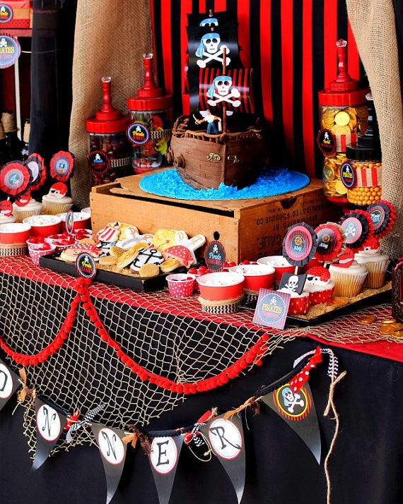 PIRATE Birthday Party - Pirate FOOD - Pirate Party