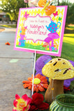 Mad Hatter WELCOME SIGN- Wonderland Sign- Mad Hatter Sign- Alice in Wonderland Party