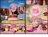 PINK COWGIRL Party- Horse Party- Birthday- FOOD LABEL